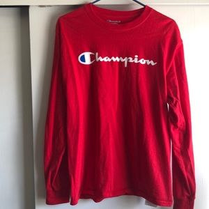 Red champion long sleeve